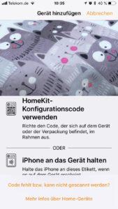 HomeKit - Homebridge als neues Gerät hinzufügen