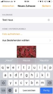HomeKit - neues Zuhause anlegen copy