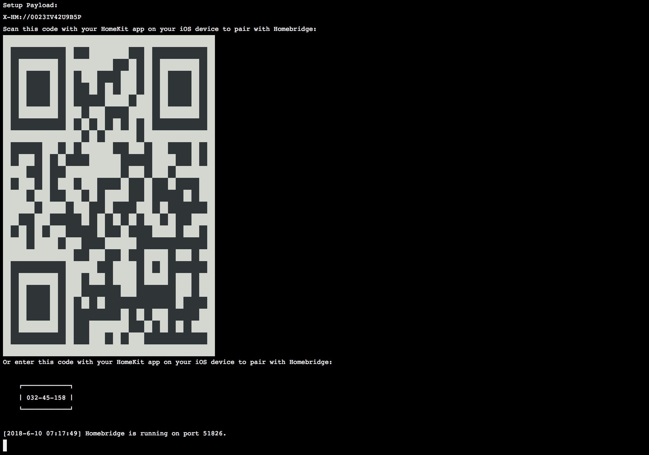 Homebridge Start - QR Code copy