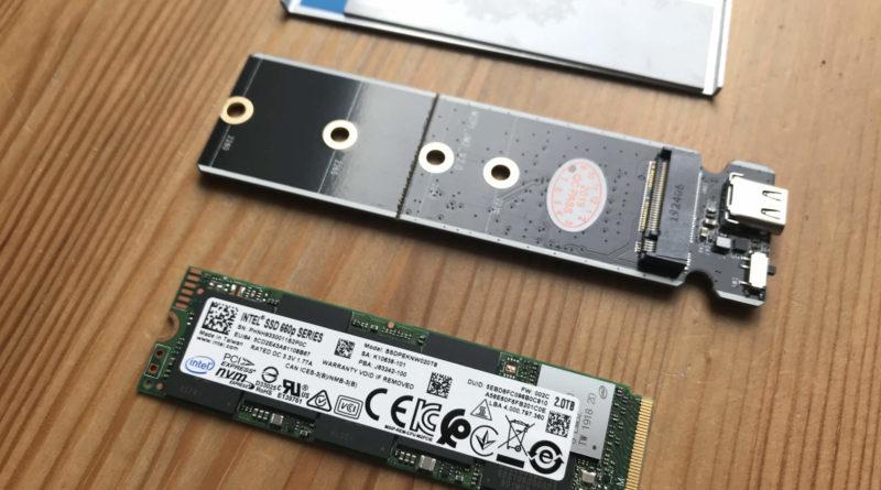 Externe SSD - Gehäuse und Intel M.2 SSD