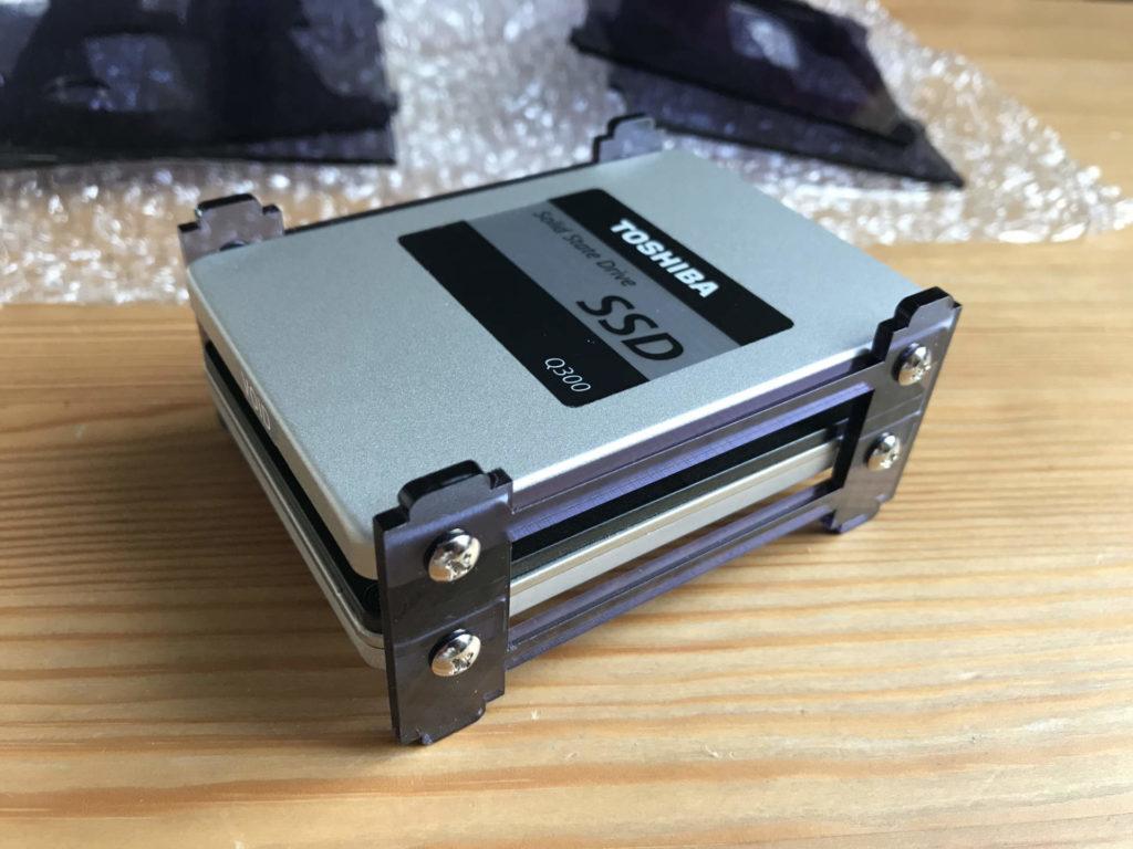 Der Tray für die beiden SSDs